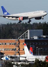 Flygtrafiken på Arlanda öppnade i måndags. Foto: Johan Nilsson/Scanpix
