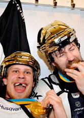 HV71 firar SM-guldet i ishockey. Foto: Pontus Lundahl/Scanpix