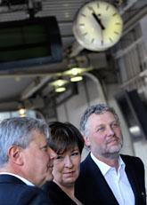 De rödgröna partiernas ledare. Foto: Janerik Henriksson/Scanpix