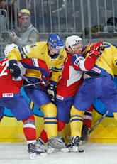 Sverige vann med 5-2 mot Norge i VM. Foto: Håkon Mosvold Larsen/Scanpix
