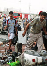 Många människor dödades i terrordåd i Irak på måndagen. Foto: Nabil al-Jurani/Scanpix
