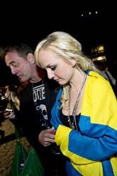 Anna Bergendahl blev utslagen. Foto: Scanpix