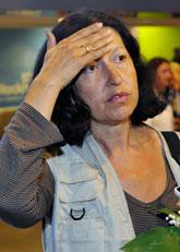 Victoria Strand kom hem från Israel. Foto: Henrik Montgomery/Scanpix