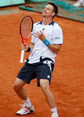 Robin slog ut världsettan Roger Federer. Foto: Christophe Ena/Scanpix