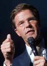 Mark  Rutte är ledare för partiet VVD. Foto: Fredrik Persson/Scanpix