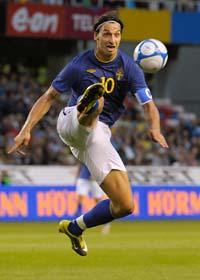 Zlatan gjorde ett mål när Sverige vann med 3–0 mot Skottland. Foto: Leif R Jansson/Scanpix