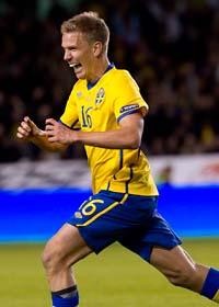 Pontus Wernbloom gjorde två mål och blev hjälte. Foto: Jonas Ekströmer/Scanpix