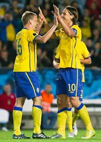 Sverige hade målfest mot San Marino i EM-kvalet. Foto: Anders Hillergren/Scanpix