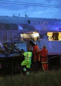 Arton människor skadades i en tågolycka nära Linköping. Foto: Björn Persson/Scanpix