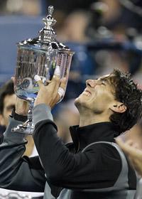 Rafael Nadal vann US Open i tennis. Foto: Charles Krupa/Scanpix