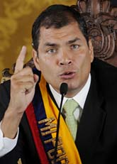 Ecuadors president Rafael Correa. Foto: Scanpix