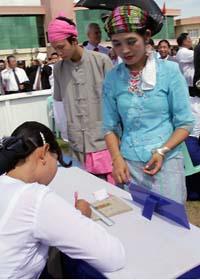 Den 7 november ska det hållas val i Burma. Foto. Khin Maung Win/Scanpix
