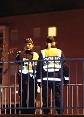 Poliser på vakt i Malmö. Foto: Scanpix