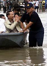 Det är stora översvämningar i Thailand. Foto. Scanpix