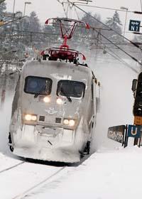 SJ rustar för kall och snöig vinter. Foto: Johan Nilsson/Scanpix