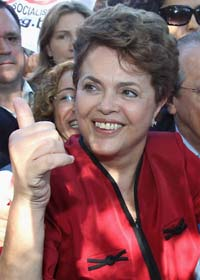 Brasiliens nya president, Dilma Roussef. Foto: Scanpix