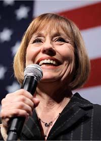 Republikanen Sharron Angle är nöjd med valresultatatet. Foto: Julie Jacobson/Scanpix