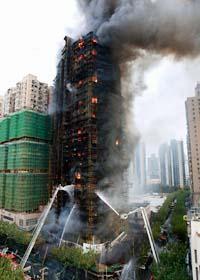 Många dog i branden i höghuset. Foto: AP/Scanpix