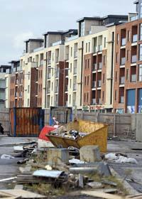 Irland är ett land i kris. Foto. Peter Morrison/Scanpix
