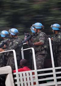 FN-soldater i landet Haiti. Foto: Emilio Morenatti/Scanpix