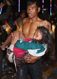 Många dog i trängseln på festen i Pnom Penh i Kambodja. Foto: Heng Sinith/Scanpix