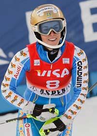 Maria Pietilä Holner vann sin första seger i världscupen. Foto: Alessandro Trovati/Scanpix