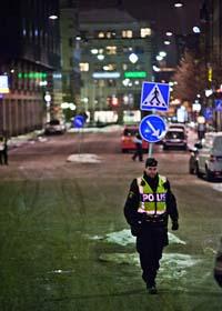 Två bomber sprängdes i helgen i centrala Stockholm. Foto: Marc Femenia/Scanpix