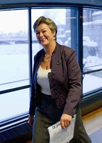 Socialdemokraten Ylva Johansson. Foto: Henrik Montgomery/Scanpix