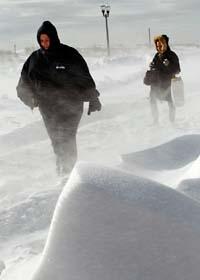 Sön och kyla ställer till stora problem i USA. Foto: Mel Evans/Scanpix