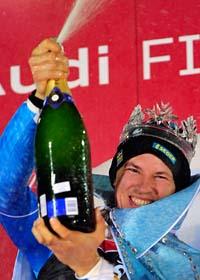 André Myhrer vann i slalom. Foto: Giovannoi Auletta/Scanpix