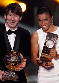 Marta och Messi är bäst. Foto: Patrick B Kraemer/Scanpix