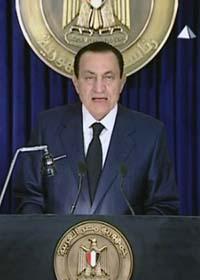 Egyptens president Mubarak lovar att sluta i höst. Foto: APTN/Scanpix