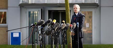 Wikileaks ledare Julian Assange. Foto: Matt Dunham/Scanpix