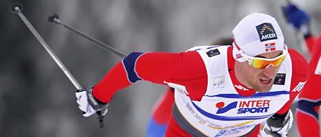 Petter Northug på väg mot guldet. Foto: Jens Meyer/Scanpix