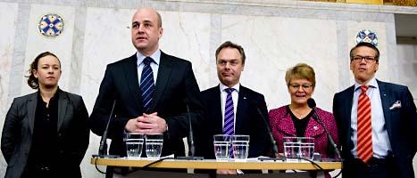 Regeringen och Miljöpartiet är överens om invandring. Foto: Pontus Lindahl/Scanpix