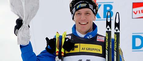 Björn Ferry blev tvåa i tävlingen i skidskytte i Norge. Foto: Scanpix