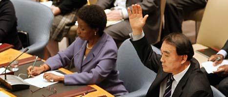 Länderna i Förenta Nationernas säkerhetsråd röstade för att FN ska skydda folk i Libyen. Foto: Scanpix