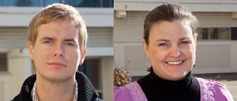 Gustav Fridolin och Mikaela Valtersson kan bli nya ledare för Miljöpartiet. Foto: Drago Prvulovic/Scanpix