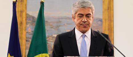 Portugals ledare José Soctrates var ledsen efter mötet i parlamentet. Foto: Armando Franca/Scanpix