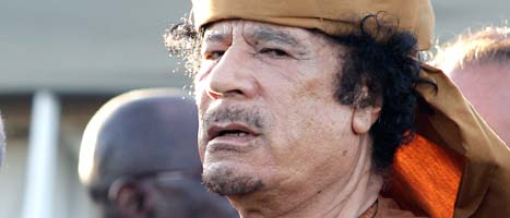 Libyens ledare Muammar Gaddafi. Foto. Pier Paolo Cito/Scanpix