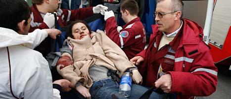 Tolv människor dödades av bomben i MInsk. Foto: Sergej Grits/Scanpix