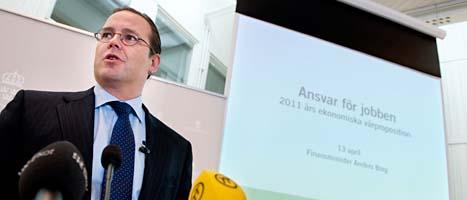Finansminister Anders Borg tror att Sverige kommer att ha en bra ekonomi i många år framåt. Foto: Pontus Lundahl/Scanpix