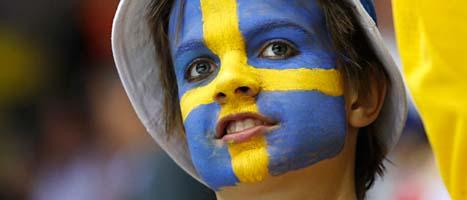 Sverige vann kvartsfinalen mot Tyskland i ishockey-VM. Foto: Petr David Josek/AP/Scanpix