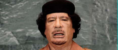 Muammar Gaddafi ska gripas. Foto: Richard Drew/Scanpix