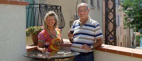 Jan och Eva Zetterqvist flyttade till frankrike när de blev pensionärer. Foto: Scanpix