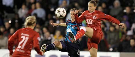 Lyon vann Champions League i fotboll för damer. Foto: Scanpix