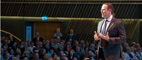 Sveriges finansminister Anders Borg klagar på att bankerna är giriga. Foto: Lars Hedelin/Scanpix