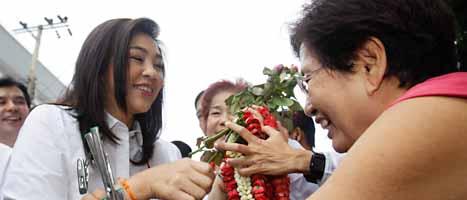 Yingluck Shinawatra vill bli premiärminister i Thailand. Foto: Sakchai Lalit/Scanpix