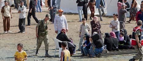 Ett läger för syriska flyktingar i Turkiet. Foto: Vadim Ghirda/Scanpix