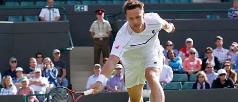 Robin Söderling vann sin första match i årets Wimbledon.  Foto: Anja Nedringhaus/Scanpix